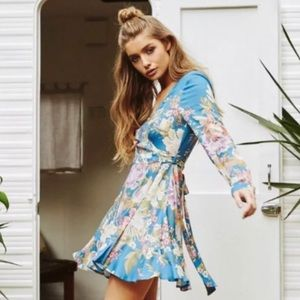 Spell & The Gypsy Collective Dresses - NWT Spell & The Gypsy Blue Skies Wrap Mini Dress
